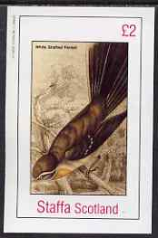 Staffa 1982 White Shafted Fantail imperf deluxe sheet (�2 value) unmounted mint