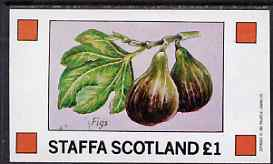 Staffa 1982 Fruits (Figs) imperf souvenir sheet (�1 value) unmounted mint