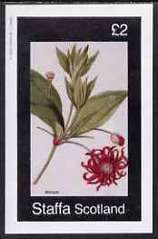 Staffa 1982 Illicium imperf deluxe sheet (�2 value) unmounted mint