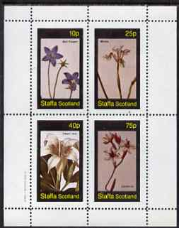 Staffa 1982 Flowers #55 perf set of 4 values (Bell Flower, Morea, Ixia & Gardenia) unmounted mint