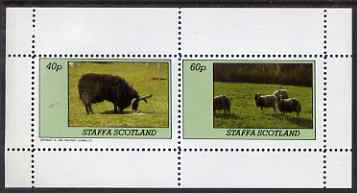 Staffa 1983 Sheep perf set of 2 values unmounted mint