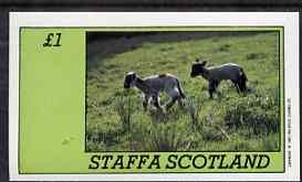 Staffa 1983 Sheep imperf souvenir sheet (�1 value) unmounted mint