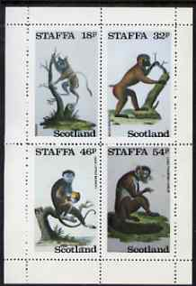 Staffa 1983 Primates perf set of 4 values unmounted mint