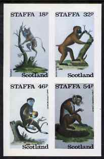 Staffa 1983 Primates imperf set of 4 values unmounted mint