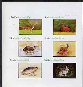Staffa 1983 Wildlife imperf  set of 6 values unmounted mint