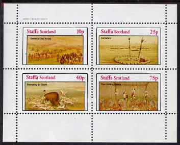 Staffa 1982 N American Indians #05 perf set of 4 values unmounted mint
