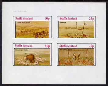 Staffa 1982 N American Indians #05 imperf set of 4 values unmounted mint