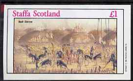 Staffa 1982 N American Indians #05 imperf souvenir sheet (�1 value - Bull Dance) unmounted mint
