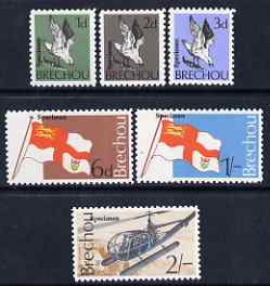 Brecqhou 1969 definitive set of 6 eac h overprinted SPECIMEN unmounted mint (Rosen B1s-6s)