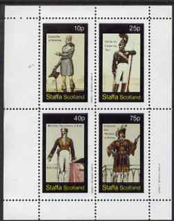 Staffa 1982 18th Century Costumes (French text) perf set of 4 values unmounted mint