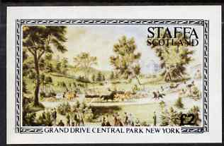 Staffa 1982 Grand Drive, Central Park New York imperf deluxe sheet (�2 value) unmounted mint