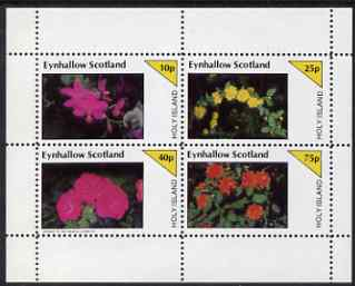 Eynhallow 1983 Flowers perf set of 4 values unmounted mint