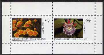 Eynhallow 1983 Flowers perf set of 2 values unmounted mint