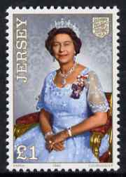 Jersey 1986 60th Birthday of Queen Elizabeth �1 unmounted mint, SG 389