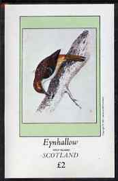 Eynhallow 1981 Tree Creeper imperf deluxe sheet (�2 value) unmounted mint