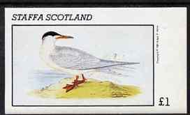 Staffa 1981 Arctic Tern imperf souvenir sheet (�1 value) unmounted mint