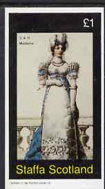 Staffa 1982  SAR Madame imperf souvenir sheet (�1 value) unmounted mint
