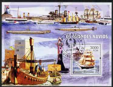 Guinea - Bissau 2006 Ships & Lighthouses large perf s/sheet containing 1 value fine cto used