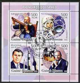Guinea - Bissau 2006 Pioneers of Space perf sheetlet containing 4 values fine cto used