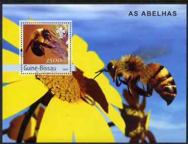 Guinea - Bissau 2003 Bees perf s/sheet containing 1 x 3500 value (with Scouts logo) unmounted mint Mi BL 445
