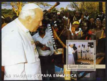 Guinea - Bissau 2003 Pope's Travels to Africa perf s/sheet containing 1 x 2500 value unmounted mint Mi BL 441