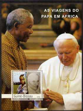 Guinea - Bissau 2003 Pope's Travels to Africa perf s/sheet containing 1 x 3000 value unmounted mint Mi BL 442