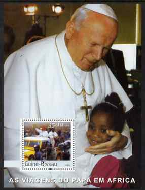 Guinea - Bissau 2003 Pope's Travels to Africa perf s/sheet containing 1 x 3500 value unmounted mint Mi BL 443