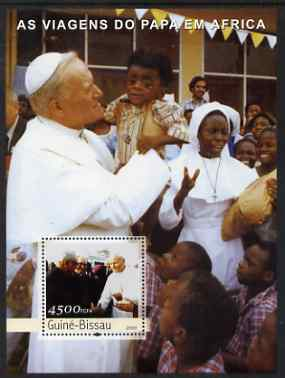 Guinea - Bissau 2003 Pope's Travels to Africa perf s/sheet containing 1 x 4500 value unmounted mint