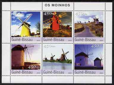 Guinea - Bissau 2003 Windmills perf sheetlet containing 6 x 450 values unmounted mint Mi 2572-77
