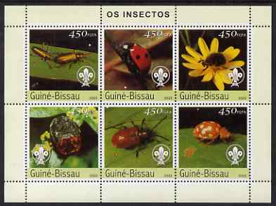 Guinea - Bissau 2003 Insects perf sheetlet containing 6 x 450 values unmounted mint Mi 2630-35