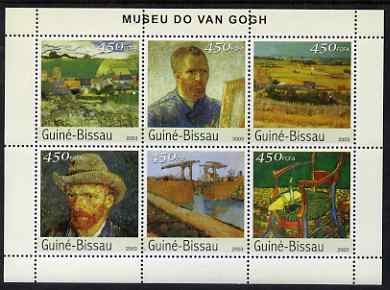 Guinea - Bissau 2003 The Van Gogh Museum perf sheetlet containing 6 x 450 values unmounted mint Mi 2682-87