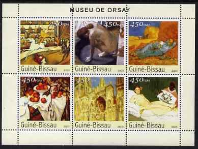 Guinea - Bissau 2003 The Orsay Museum perf sheetlet containing 6 x 450 values unmounted mint Mi 2664-69