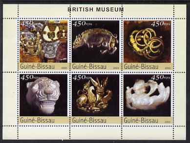 Guinea - Bissau 2003 The British Museum perf sheetlet containing 6 x 450 values unmounted mint Mi 2658-63