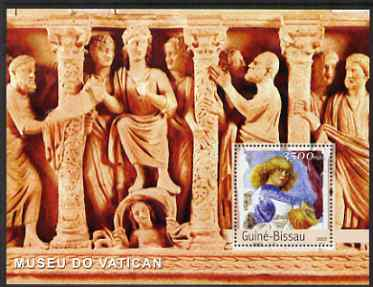 Guinea - Bissau 2003 The Vatican Museum perf s/sheet containing 1 x 3500 value unmounted mint Mi BL 451