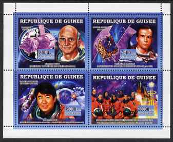 Guinea - Conakry 2006 Space perf sheetlet containing 4 values unmounted mint, stamps on space