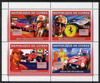 Guinea - Conakry 2006 Ferrari perf sheetlet containing 4 values unmounted mint