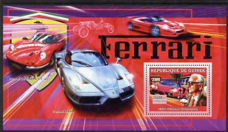 Guinea - Conakry 2006 Ferrari perf s/sheet #1 containing 1 value (Enzo Ferrari) unmounted mint