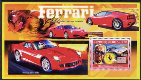 Guinea - Conakry 2006 Ferrari perf s/sheet #2 containing 1 value (Enzo Ferrari) unmounted mint