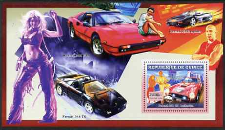Guinea - Conakry 2006 Ferrari perf s/sheet #4 containing 1 value (Elvis & Viva Las Vegas) unmounted mint