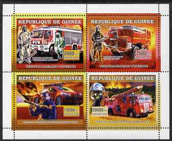 Guinea - Conakry 2006 European Fire Engines perf sheetlet containing 4 values unmounted mint