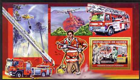 Guinea - Conakry 2006 European Fire Engines perf s/sheet #1 containing 1 value (German) unmounted mint