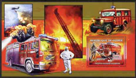 Guinea - Conakry 2006 European Fire Engines perf s/sheet #2 containing 1 value (French) unmounted mint