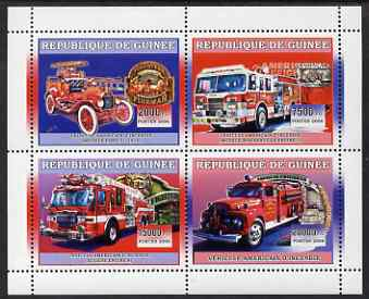 Guinea - Conakry 2006 American Fire Engines perf sheetlet containing 4 values unmounted mint