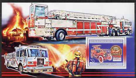 Guinea - Conakry 2006 American Fire Engines perf s/sheet #1 containing 1 value (Ford T-1914) unmounted mint