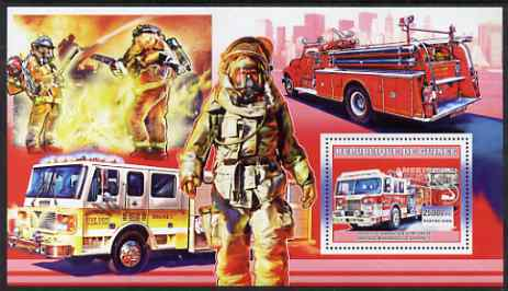 Guinea - Conakry 2006 American Fire Engines perf s/sheet #2 containing 1 value (Mooresville Engine 3) unmounted mint