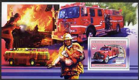 Guinea - Conakry 2006 American Fire Engines perf s/sheet #4 containing 1 value (Unspecified) unmounted mint