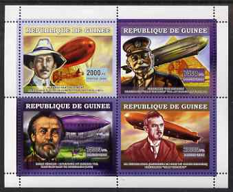 Guinea - Conakry 2006 Airships perf sheetlet containing 4 values unmounted mint