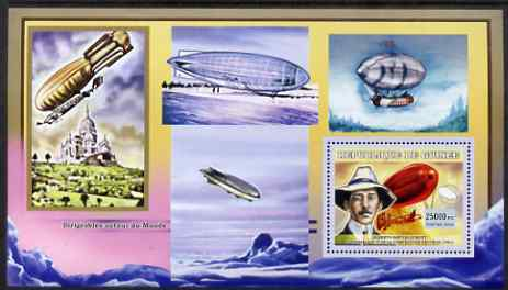 Guinea - Conakry 2006 Airships perf s/sheet #1 containing 1 value (Santos-Dumont) unmounted mint