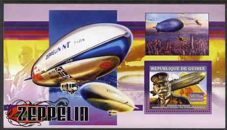 Guinea - Conakry 2006 Airships perf s/sheet #2 containing 1 value (Von Zeppelin) unmounted mint