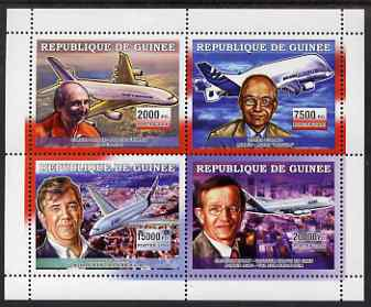 Guinea - Conakry 2006 Airbus A380 perf sheetlet containing 4 values unmounted mint